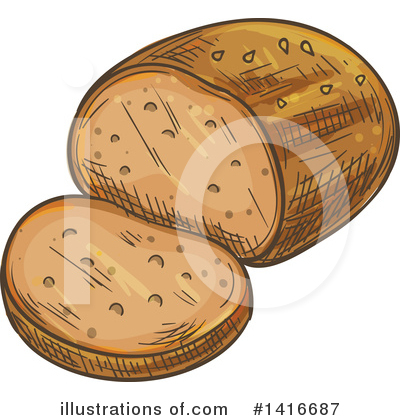 Bread Clipart #1416687 by Vector Tradition SM