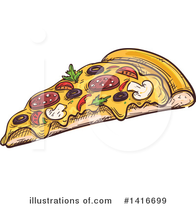Pizza Clipart #1416699 by Vector Tradition SM