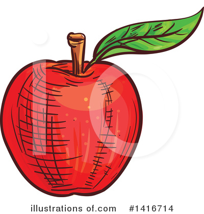 Apple Clipart #1416714 by Vector Tradition SM