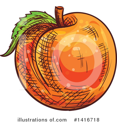 Peach Clipart #1416718 by Vector Tradition SM