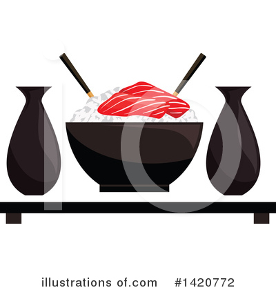 Sushi Clipart #1420772 by Vector Tradition SM