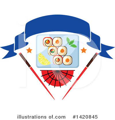 Sushi Clipart #1420845 by Vector Tradition SM