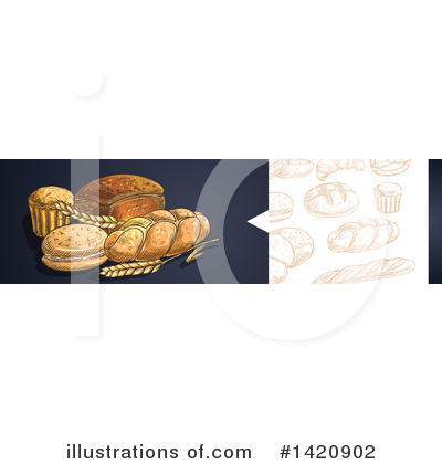 Bread Clipart #1420902 by Vector Tradition SM