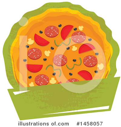 Pizza Clipart #1458057 by Vector Tradition SM