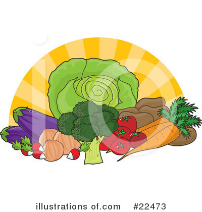 Vegetable Clipart #22473 by Maria Bell