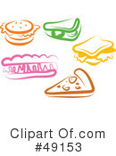 Royalty-Free (RF) Food Clipart Illustration #49153