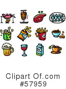 Royalty-Free (RF) Food Clipart Illustration #57959