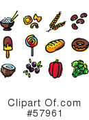 Royalty-Free (RF) Food Clipart Illustration #57961