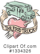 Food Truck Clipart #1334326 by patrimonio