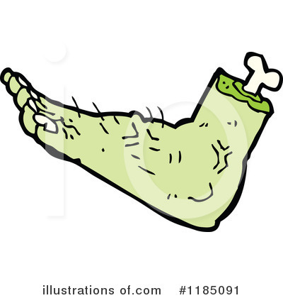 Royalty-Free (RF) Foot Clipart Illustration by lineartestpilot - Stock Sample #1185091