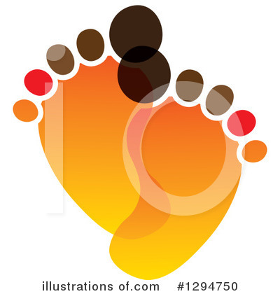 Footprint Clipart #1294750 by ColorMagic