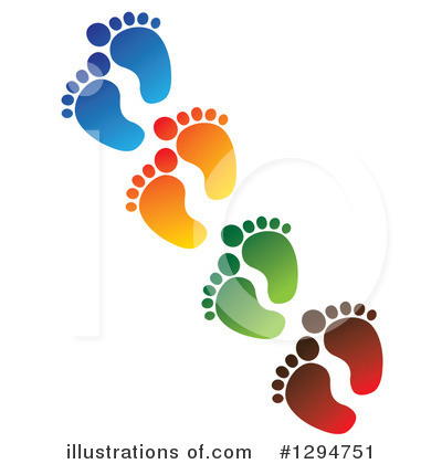 Footprint Clipart #1294751 by ColorMagic