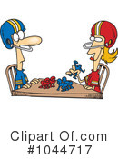 Football Clipart #1044717 by toonaday