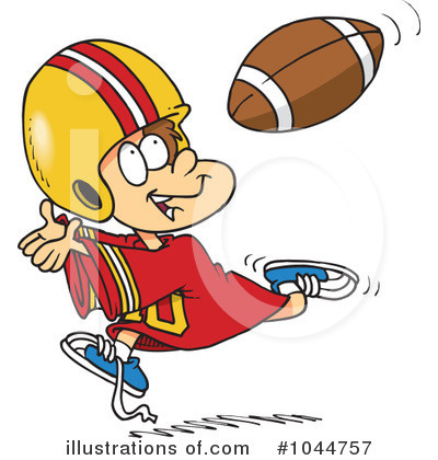 Football Clipart #1044757 by toonaday
