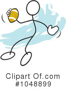 Royalty-Free (RF) Football Clipart Illustration #1048899