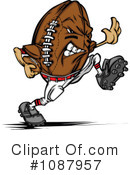 Football Clipart #1087957 by Chromaco