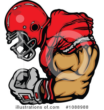 Football Player Clipart #1088988 by Chromaco