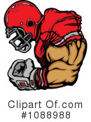 Royalty-Free (RF) Football Clipart Illustration #1088988