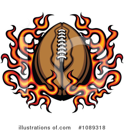 Football Clipart #1089318 by Chromaco