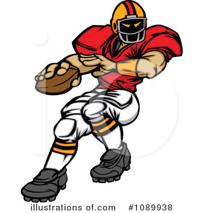Football Player Clipart #1089938 by Chromaco