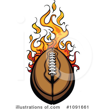 American Football Clipart #1091661 by Chromaco