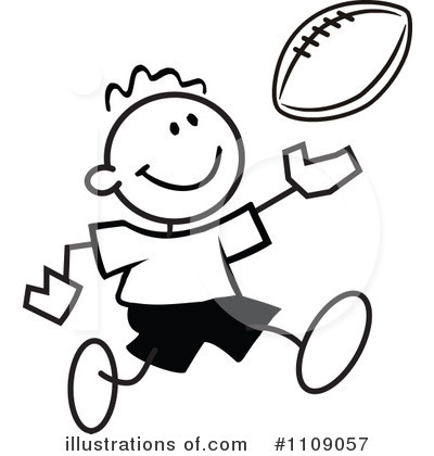 Football Clipart #1109057 by Johnny Sajem