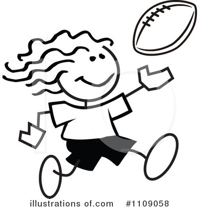 Football Clipart #1109058 by Johnny Sajem