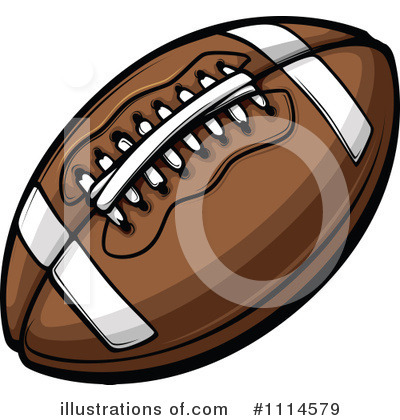 Football Clipart #1114579 by Chromaco