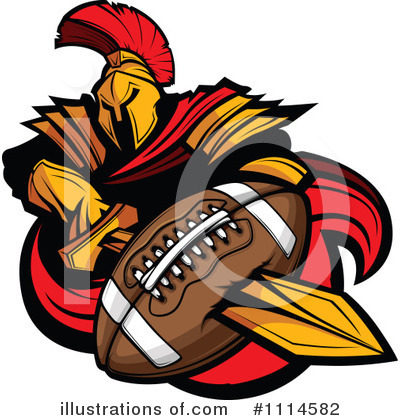 Football Clipart #1114582 by Chromaco