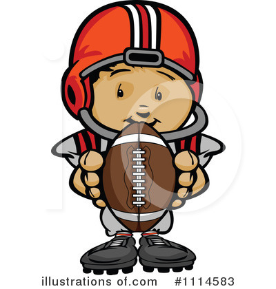Football Clipart #1114583 by Chromaco