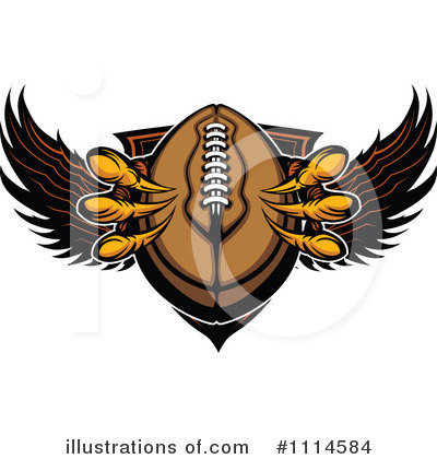 Football Clipart #1114584 by Chromaco