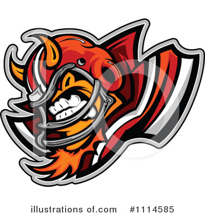 Football Clipart #1114585 by Chromaco