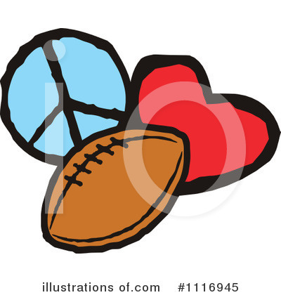 Football Clipart #1116945 by Johnny Sajem