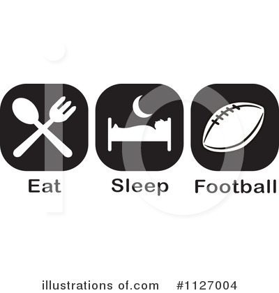 Royalty-Free (RF) Football Clipart Illustration by Johnny Sajem - Stock Sample #1127004