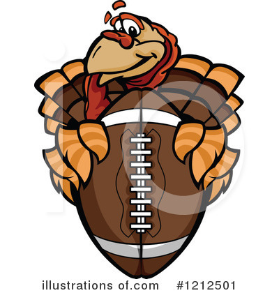 Royalty-Free (RF) Football Clipart Illustration by Chromaco - Stock Sample #1212501
