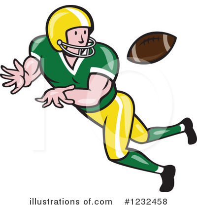 Royalty-Free (RF) Football Clipart Illustration by patrimonio - Stock Sample #1232458