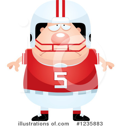 Football Player Clipart #1235883 by Cory Thoman