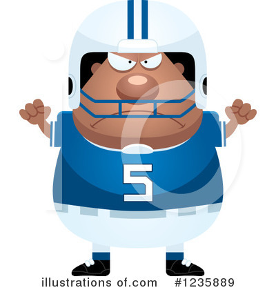 Football Player Clipart #1235889 by Cory Thoman
