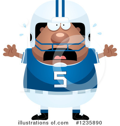 Football Player Clipart #1235890 by Cory Thoman