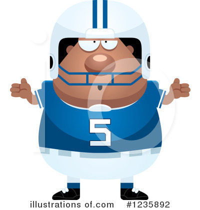 Football Clipart #1235892 by Cory Thoman