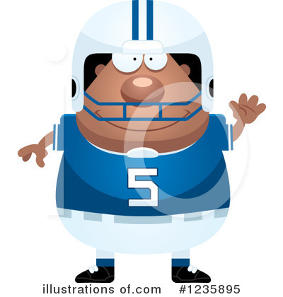 Football Clipart #1235895 by Cory Thoman