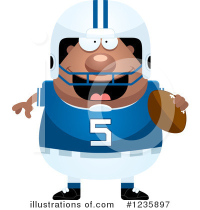 Football Clipart #1235897 by Cory Thoman