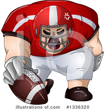Football Player Clipart #1336320 by Liron Peer