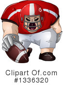 Football Clipart #1336320 by Liron Peer