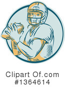 Football Clipart #1364614 by patrimonio