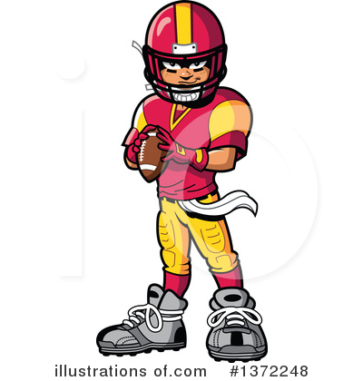 Football Player Clipart #1372248 by Clip Art Mascots
