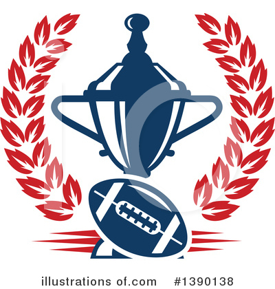 Football Clipart #1390138 by Vector Tradition SM