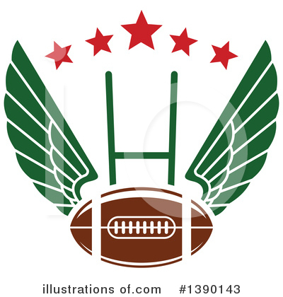 Football Clipart #1390143 by Vector Tradition SM