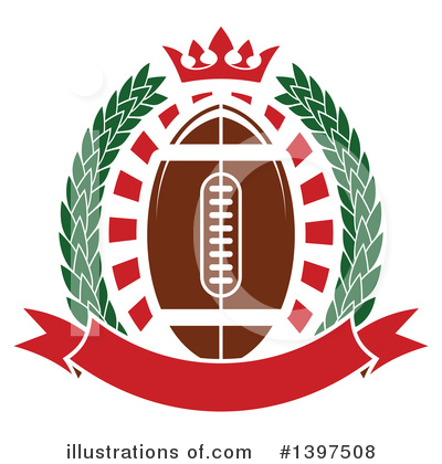 Royalty-Free (RF) Football Clipart Illustration by Vector Tradition SM - Stock Sample #1397508