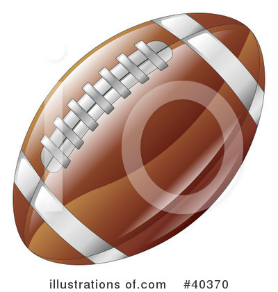 American Football Clipart #40370 by AtStockIllustration